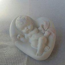"""Форма силиконовая """"Младенец на сердце (на спине)"""""""