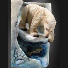 """Форма силиконовая """"Медведь на льдине"""""""